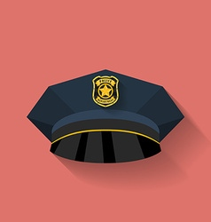 Icon of police hat cop hat flat style vector