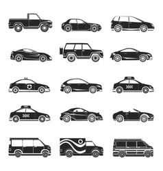 Car icons set vector