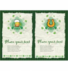 St. patrick's day backgrounds vector