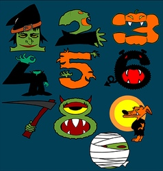 Halloween numbers vector