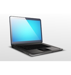 Screen a laptop with blue graphics vector