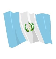 Political waving flag of guatemala vector