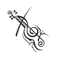 Image of violin vector