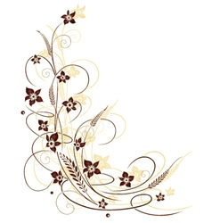 Grain flowers vector