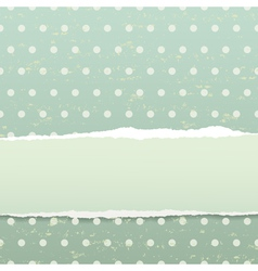 Retro background with torn paper vector