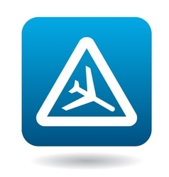 Sign airport icon simple style vector