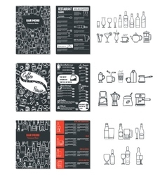 Drinks Menu for Design 1 vector image