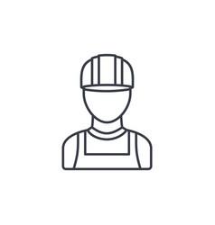 Avatar builder iin hemlet thin line icon linear vector