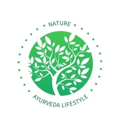 Ayurvedic tree icon alternative medicine vector
