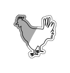Chicken meal silhouette vector image