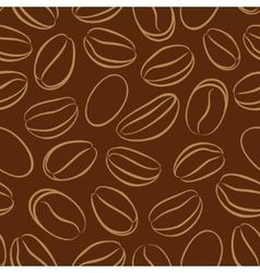 Coffee seamless pattern with coffee beans vector image vector image