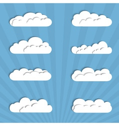 Collection of paper clouds vector