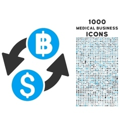 Dollar baht exchange icon with 1000 medical vector