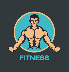 fitness logo icon design vector image vector image