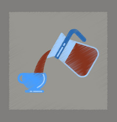 flat shading style icon coffee cup maker vector image