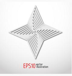 hexagonal star paper 3d design sacral geometry vector image