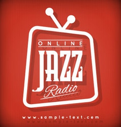 Jazz radio vector