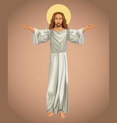 Jesus christ religious image vector