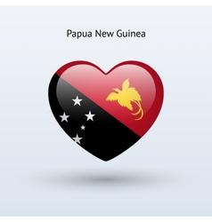 Love papua new guinea symbol heart flag icon vector