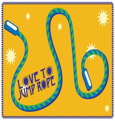 Love to jump rope vector