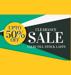 Modern sale and discount card banner design with vector