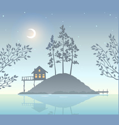 nature island vector image vector image