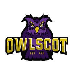 Owl logo team mascot vector