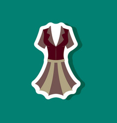 paper sticker fashion clothes summer dress vector image vector image