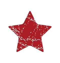 Red grunge star logo vector