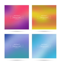 Set of colorful abstract backgrounds blurred vector