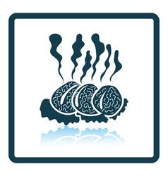 Smoking cutlet icon vector