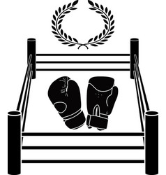 Stencil of boxer ring vector