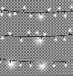 Strings of glowing christmas lights vector