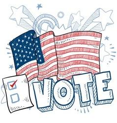 doodle americana vote vector image