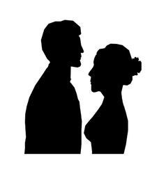 Bride and groom icon image vector