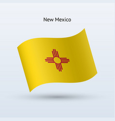 State of new mexico flag waving form vector