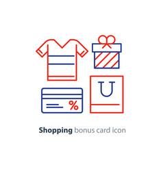 shopping special offer bonus card loyalty program vector image