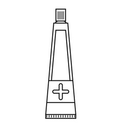 ointment cream tube medicine thin line vector image