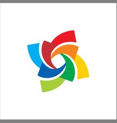 Circle colorful spin logo vector