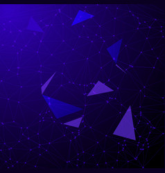 Low poly abstract with connecting dots vector