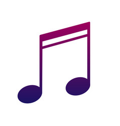 Note icon a sign of melody and music bright and vector