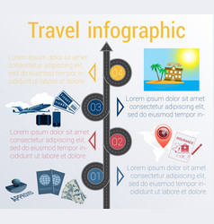 Travel infographic template 4 positions vector