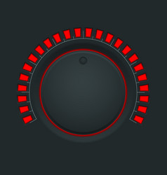 volume switch black round button knob vector image