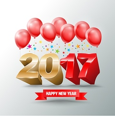 2017 new years eve with balloons design for new vector