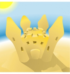 Sandcastle illustration vector