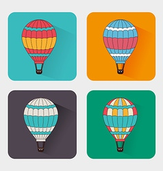 Air balloon over white background vector