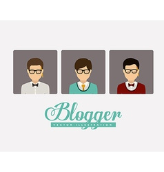 Blogger design vector