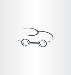 Sport racing car stylized icon vector
