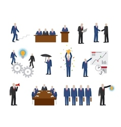 Business people in flat style vector