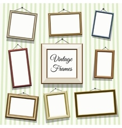 Vintage photo or picture frames vector
